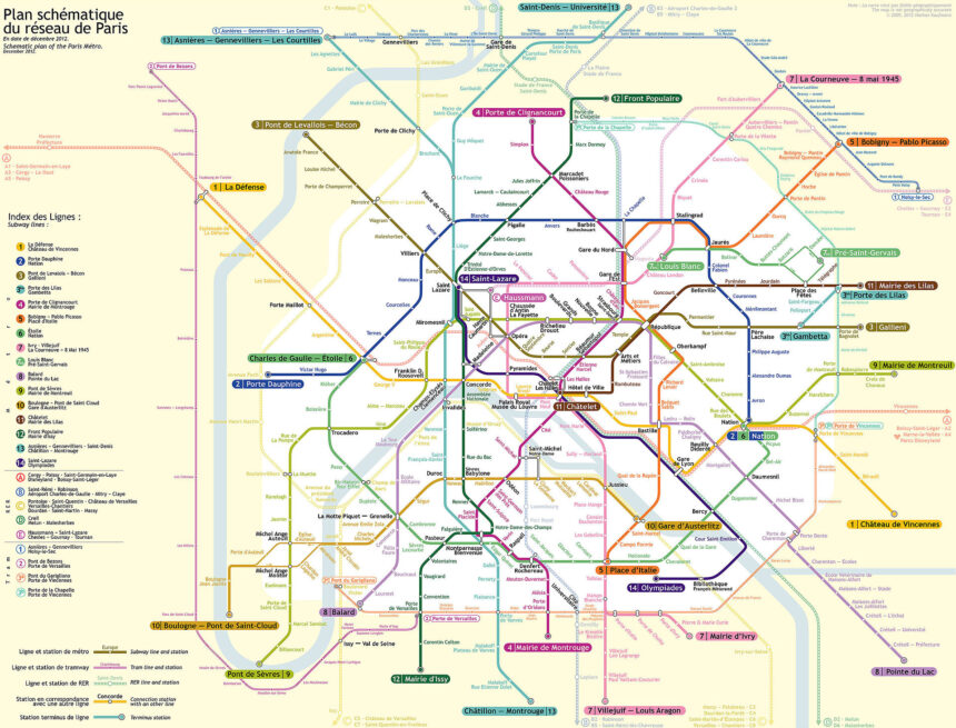 Metropolitana di Parigi (Mappa e Costi)